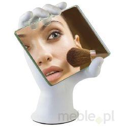 Lusterko do makijażu na stojaku w kształcie ręki