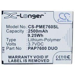 Prestigio MultiPhone 7600 Duo / PAP7600 DUO 2500mAh 9.25Wh Li-Polymer 3.7V (Cameron Sino)