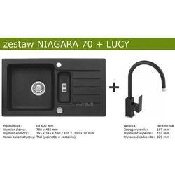 Zestaw AVLEUS NIAGARA 70 + LUCY (kolor CZARNY)