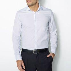 Koszula z nadrukiem w groszki, długi rękaw, dopasowany krój
