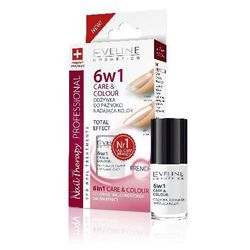 Eveline Nail Therapy Lakier odżywka 6w1 Care & Colour French 5ml