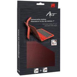 ART ETUI + KLAWIATURA micro+mini USB DO TABLETU 7'' AB-101C czerwone - TORTAB AB-101C