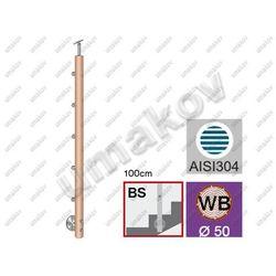 Drewniany słupek BUK (BEECH) D50mm, 5xd12mm, v=100