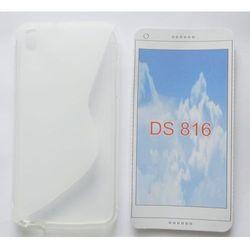 Silikonowa obudowa Back Case S-Line - transparentna - HTC Desire 816