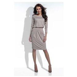 a8d099d5cb suknie sukienki mocca sukienka midi z hiszpanskim dekoltem ...