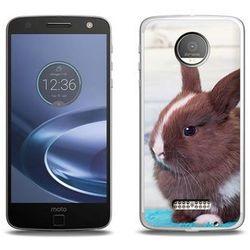 Foto Case - Lenovo Moto Z Force - etui na telefon Foto Case - brązowy królik