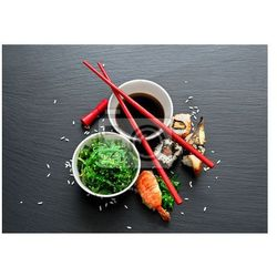 Obraz Seaweed salad and sushi