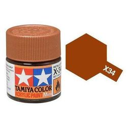 Farba akrylowa - X-34 Metallic Brown gloss / 10ml Tamiya 81534