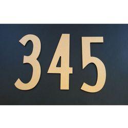 Numer Numery Cyfra na Drzwi złoto drapane 9,8 cm