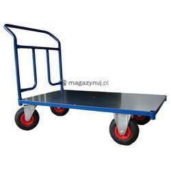Wózek platformowy jednoburtowy, platforma z blachy. Wym. 1000x600mm (Ładowność: 250kg)