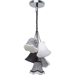 Kare design :: Lampa Saloon Ornament B&W 5-lite - biało-czarna 5 kloszy