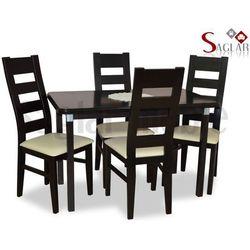 Zestaw INDUS I 4 krzesła i stół 70x120/150