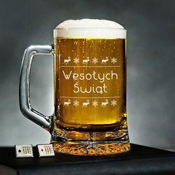 Wesołych Świąt - Kufel na piwo - Kufel do piwa
