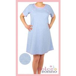 Koszula nocna ciążowa i do karmienia - Niebieska różowy