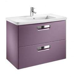 ROCA Gap Unik szafka z szufladami fioletowa + umywalka 80 A855712577
