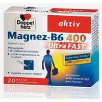 Doppelherz Aktiv Magnez-B6 UltraFAST 20sasz