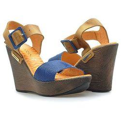 Sandały Carini B1984 Granatowe