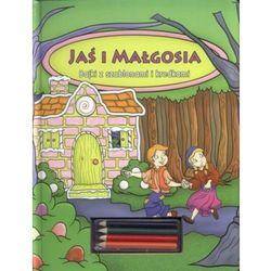 Jaś i Małgosia Bajki z szablonami i kredkami (opr. twarda)