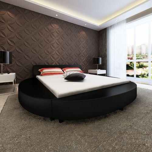 Vidaxl Rama łóżka 180x200 Cm Okrągła Sztuczna Skóra