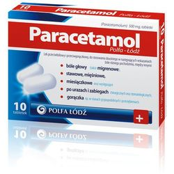 Paracetamol tabl.500mg x 10 /Polfa Lodz