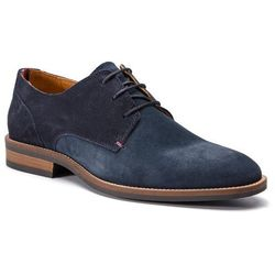 da3a2c930b623 Półbuty TOMMY HILFIGER - Essential Suede Mix Shoe FM0FM02101 Midnight 403