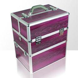 Kuferek kosmetyczny dwuczęściowy WĄŻ fioletowy