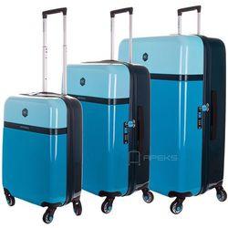 ff4e10db80ce6 BG Berlin Tri Colors zestaw walizek na 4 kółkach / komplet / walizki lekkie  / niebieski