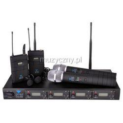 Azusa PLL 400, poczwórny mikrofon bezprzewodowy 2x doręczny + 2x krawatowy Płacąc przelewem przesyłka gratis!