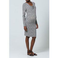 Esprit Maternity Sukienka z dżerseju black/offwhite