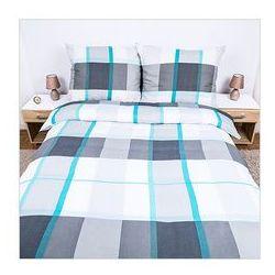 Pościel z flaneli bawełnianej Ocean Blue 160x200+2x70x80cm