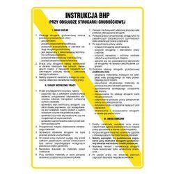 Instrukcja BHP przy obsłudze strugarki grubościowej