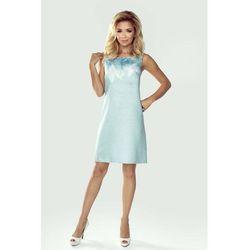 524fbd7581 suknie sukienki trapezowa sukienka z kokarda rozowa km183 3 (od ...