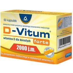 D-Vitum Forte Witamina D3 2000IU 60 kaps.