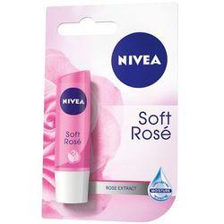 NIVEA 4,8g Soft Rose Pomadka olejek jojoba i zapach kwiatu róży