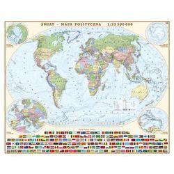 Świat mapa ścienna polityczna 1:23 500 000 Eko-Graf