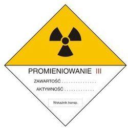Znak ostrzegawczy do oznakowania przesyłek transportowych kategorii III