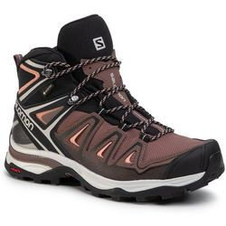 Trekkingi SALOMON X Ultra 3 Mid Gtx W GORE TEX 408144 25 W0 PeppercornBlackCoral Aimond