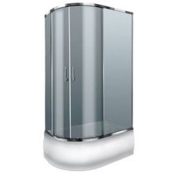 DURASAN PALERMO WK 120 Kabina prysznicowa 120x80 + brodzik + syfon klik-klak, szkło ciemne * WYSYŁKA GRATIS