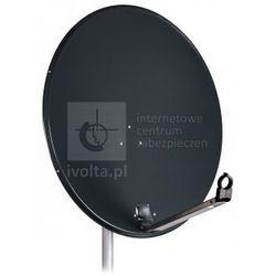 ANT80TD/TRIAX Antena SAT 80cm TRIAX 80 TD, stal, zysk do 37,1dB, ciemna