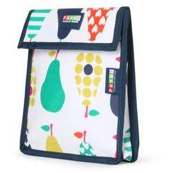 Penny Scallan Design, torebka na przekąski, wielokrotnego użytku, biało-granatowa w gruszki Darmowa dostawa do sklepów SMYK