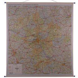 Województwo mazowieckie mapa ścienna administracyjno-drogowa 1:200 000 EkoGraf
