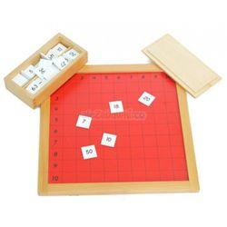 Tablica mnożenia pitagorasa - pomoce Montessori