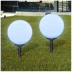 Ogrodowe lampy solarne LED 30cm, 2szt z uziemieniem Spike Zapisz się do naszego Newslettera i odbierz voucher 20 PLN na zakupy w VidaXL!