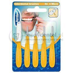 JORDAN Interdental Brush MICRO (3,0mm) żółta 5szt. - zestaw szczoteczek międzyzębowych z higieniczną osłonką