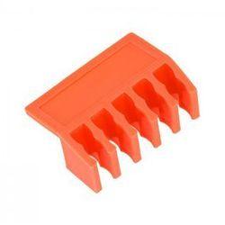 Plastikowy organizer do kabli listwa czerwony