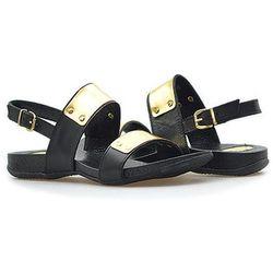 Sandały Carini B2048 Czarno Złote