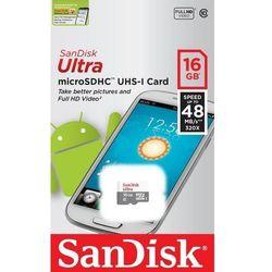 SanDisk microSDHC 16GB - produkt w magazynie - szybka wysyłka!