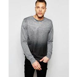 River Island Sweatshirt In Grey Fade With NYC Print - Grey