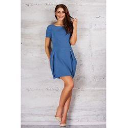 Niebieska Dziewczęca Sukienka Bombka