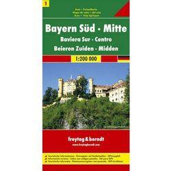Niemcy. Część 1. Bawaria południowo-centralna. Mapa 1 1:200 000 (opr. twarda)